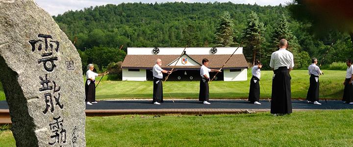 Kyudo practice at Karme Choling, Vermont