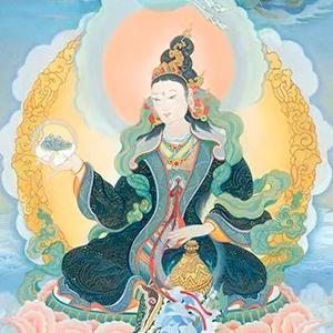 Yeshe Tsogyal (details) by Cynthia Moku