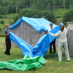 Raising the Tents!